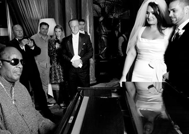 Wedding with Stevie Wonder